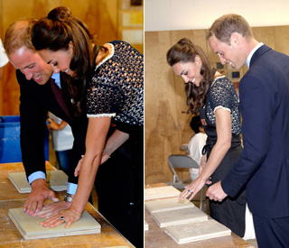 William and Kate leave their mark on Los Angeles