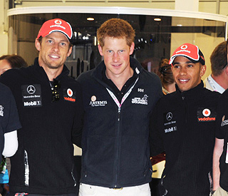 Prince Harry friendly with girlfriend's ex Jenson Button