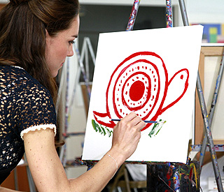 Duchess' snail painting apparently worth thousands