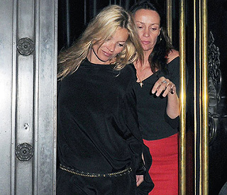 Kate Moss steps out for a post-honeymoon dinner