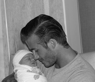 Intimate shots of baby Harper Seven Beckham