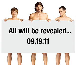 Ashton bares all for new 'Two and a Half Men' poster
