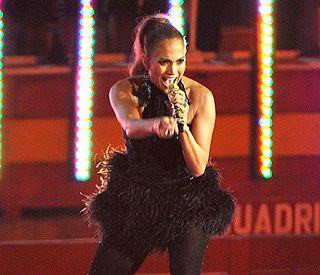 Jennifer Lopez 'happy' at wedding party despite split