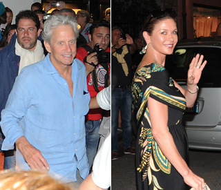 Michael Douglas and Catherine relax on holiday