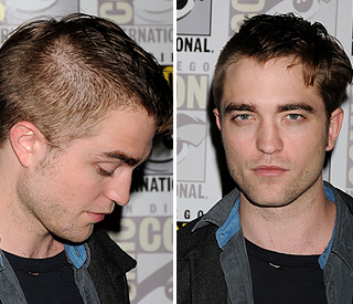 Hair-raising style change for Robert Pattinson