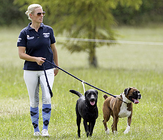 Zara Phillips exercising intensely ahead of wedding