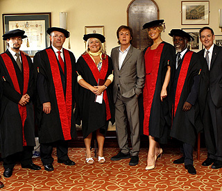 Sir Paul McCartney honours Arts school pupils