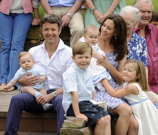 Princess Mary's twins showered with love on holiday