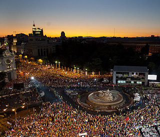 Over a million gather in Madrid to greet Pope