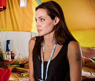 Angelina Jolie's humanitarian work in Scotland