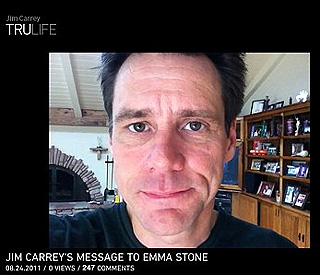 Jim Carrey sends video 'love letter' to Emma Stone