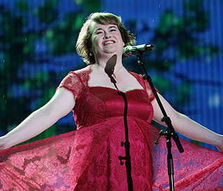 Standing ovation in the US for Susan Boyle