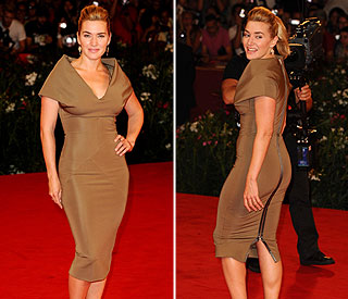 Kate Winslet shows off killer curves in sexy Posh dress