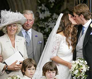 Camilla so joyful at nephew's wedding with Charles
