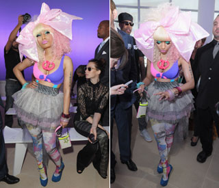 Nicki Minaj's show-stopping attire at Prabal Gurung