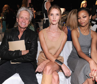 Rosie and Zoe keep Michael Douglas company