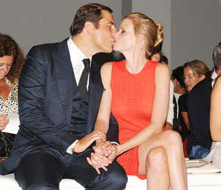Lara Stone's passionate kiss for her swim hero David