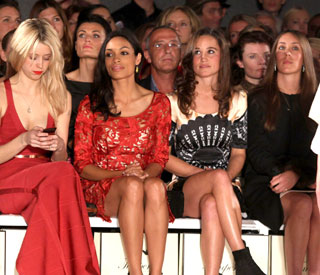 Pippa Middleton mixes with elite at fashion week