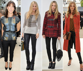 Samantha Cameron rivals beauties at Burberry
