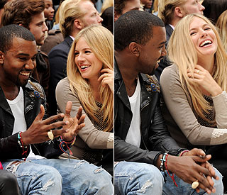 Giggling Sienna works her feminine charm with Kanye