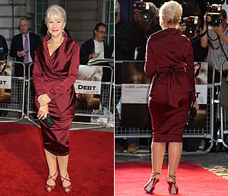 Evergreen beauty Helen Mirren dazzles on 'Debt' duty