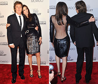 Paul McCartney backed by beautiful fiancée Nancy
