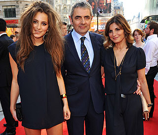 Rowan Atkinson's girl Lily turns heads at premiere