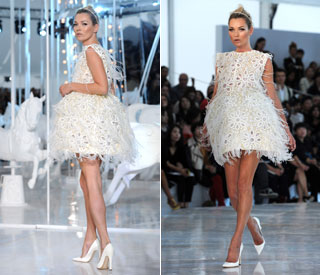 Kate Moss makes a stunning fairy princess at Vuitton