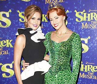 Cheryl Cole supports her 'Princess Fiona' on debut
