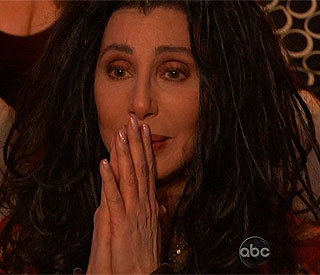Cher's tears of pride at son Chaz's performance
