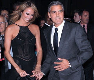 By George! Clooney's girl Stacy Keibler looks fab