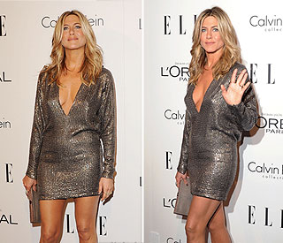 Silver goddess Jennifer Aniston dons sexiest dress yet