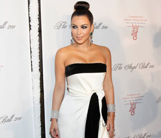 Curvy Kim Kardashian is belle of the ball