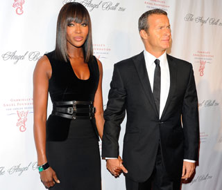 Loved-up Naomi Campbell honoured at charity event