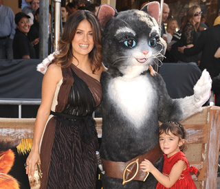 Salma Hayek's little girl thinks mum is just purr-fect