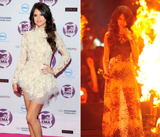Stylish EMAs host Selena Gomez on fiery form