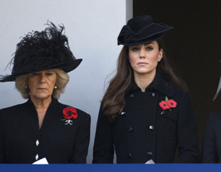 Kate supports William as he honours fallen comrades