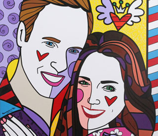 Colourful William and Kate are poptastic