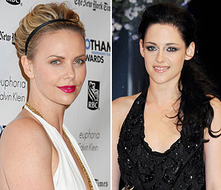 Charlize looking forward to 'big showdown' with Kristen