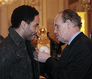 French Legion of Honour award for Lenny Kravitz