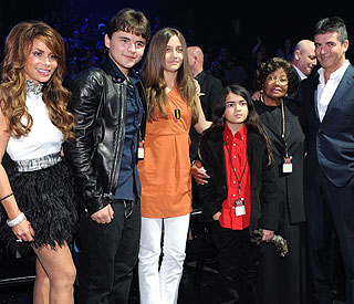 Michael Jackson's children watch 'X Factor' tribute