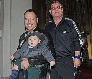 Elton and David plan their son's first birthday