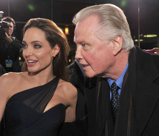 Jon Voight plays proud dad at Angelina's premiere