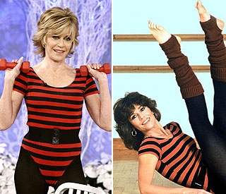 Jane Fonda, 73, back in her figure-hugging leotard