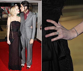 Engaged Peaches Geldof shows off her sparkler