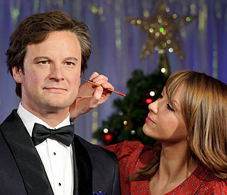 Colin Firth's waxwork is unveiled at Tussauds