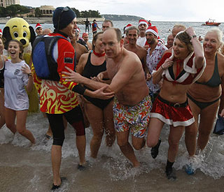 Prince Albert takes the plunge for Christmas