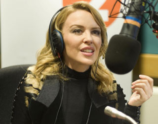 Kylie Minogue tries her hand at radio presenting