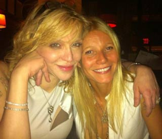 Gwyneth and Courtney Love welcome 2012 together