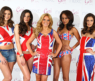 Geri Halliwell revisits iconic Union Jack dress